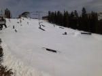 Some of Keystone's early season terrain park.