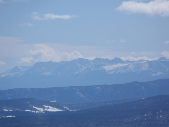 The Gore Range outside of Silverthorne.